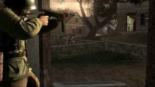Call of Duty 3 has first person and third person scenes throughout and realistic sound and gameplay.