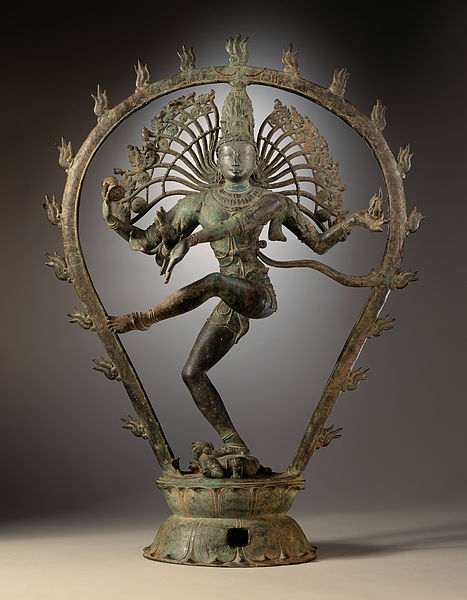 The Shiva Thandava (Dancing).  It is also called Nataraja style.