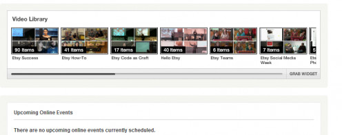 Etsy Video Library Labs to learn about selling. Lots of help and tips.