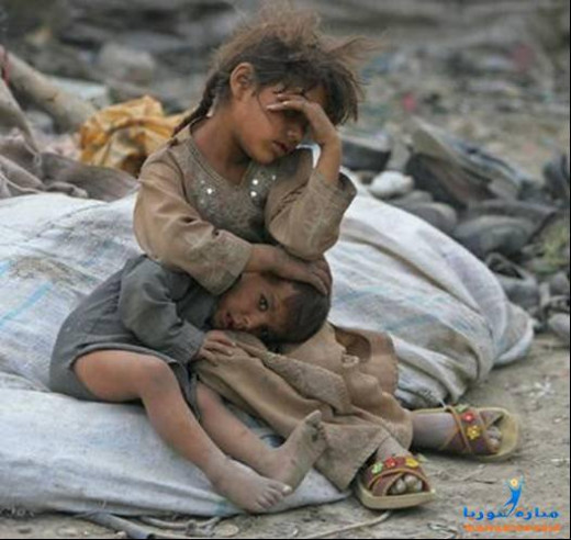 A little girl; protecting her kid brother, exhausted, waiting for her labourer-parents, to come back with bread, take them to their hiding; a cement pipe on construction-site, may be . Home, Education, Health and future; luxuries, she never dream.