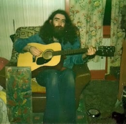 Bard of Ely in denim jacket and blue jeans back in 1978