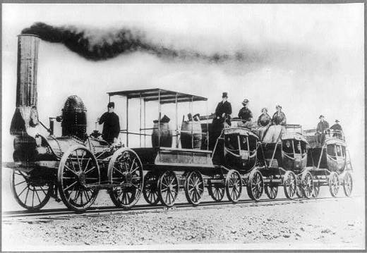 Steam was also put to use to deliver products and transport people. This single invention transformed entire continents in the US and the Americas.