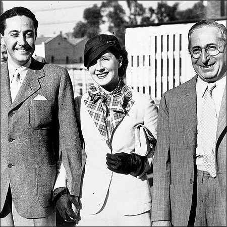 Irving Thalberg, Norma Shearer and Louis B Mayer