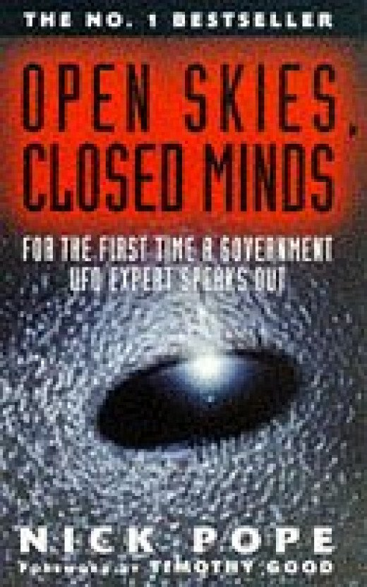 1993 UFO Sighting Wave over Devon and Cornwall: Open Skies, Closed Minds: Official Reactions to the UFO Phenomenon, Nick Pope