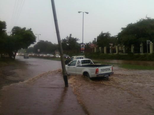 so that roads were impassable
