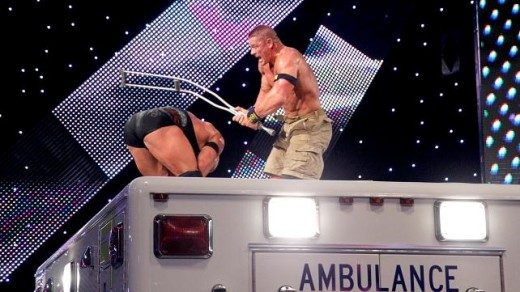 Cena and Ryback battle on the Ambulance