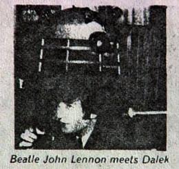 Former Beatle John Lennon meets a Dalek