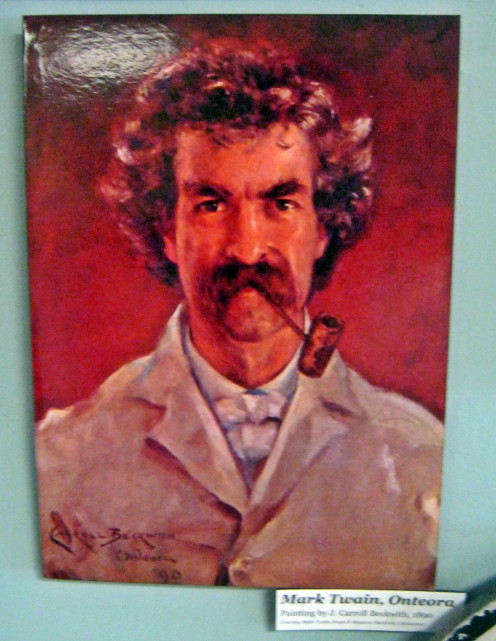 A painting of Mark Twain
