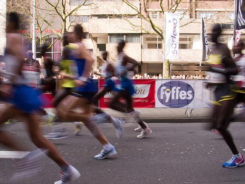 Marathon runners by Stijlfoto on Flickr