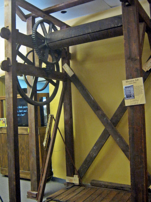 An antique elevator