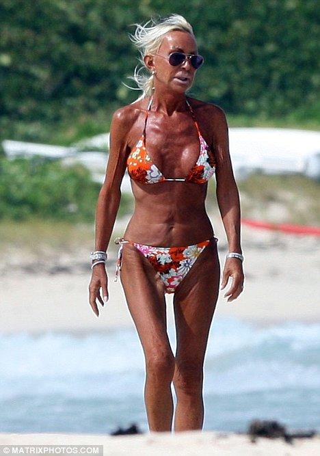 Donatella Versace Tanorexia