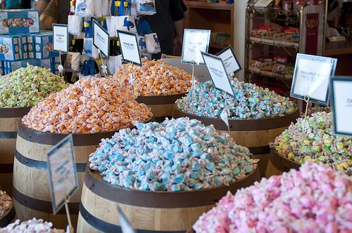 Barrels of salt water taffy by miss.libertine on Flickr