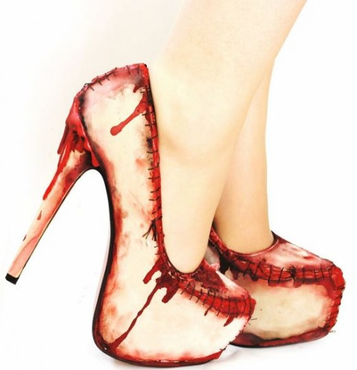 zombie flesh heels at Etsy