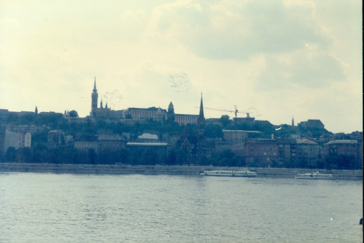City of Budapest across the Danube