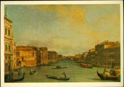 Postcard of Venice in the Old Days