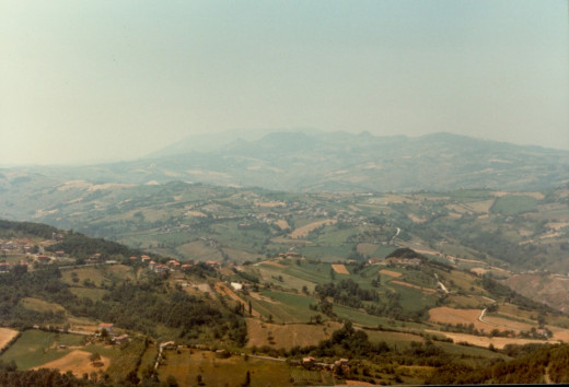 Looking down from San Marino