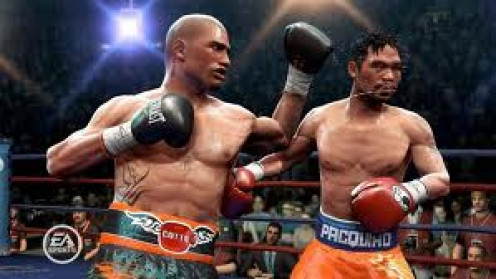 Miguel Cotto and Manny Pacquiao trade shots in Fight Night Champion.