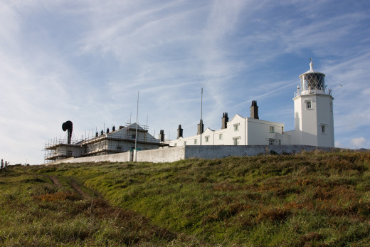 Lighthouses in Cornwall: Lizard Point, Land's End.