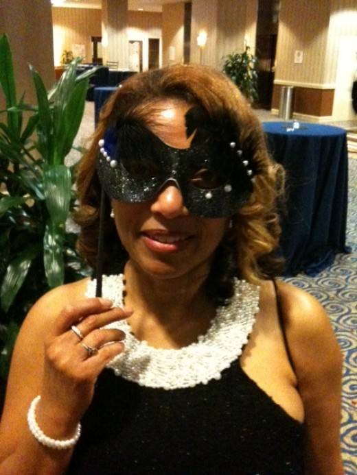 Versatile pearls can adorn dresses and masks.