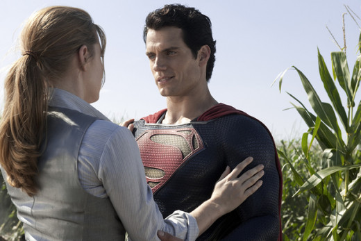 Amy Adams is Lois Lane and Henry Cavill plays the title character in the Warner Brothers summer superhero blockbuster Man of Steel