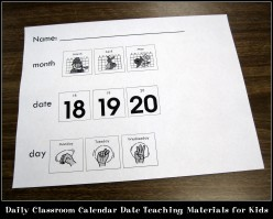 Daily Classroom Calendar Date Teaching Materials for Kids