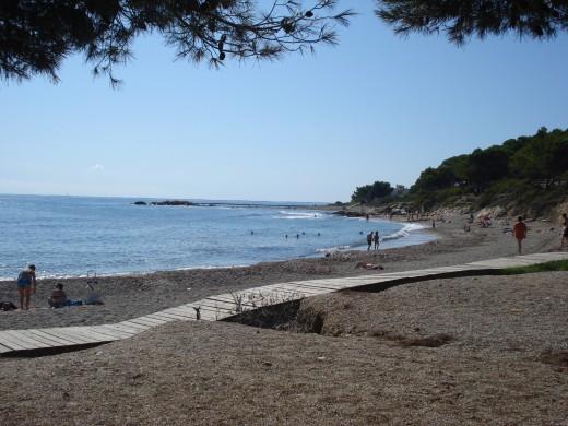Beach in L'Ampolla, Spain