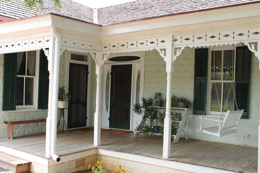 Many older homes had screen doors opening out on to a porch to bring in cool breezes
