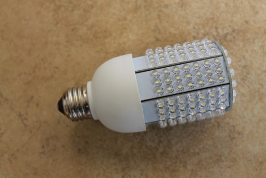 High efficiency low wattage  LED bulbs are perfect for a battery off grid system.