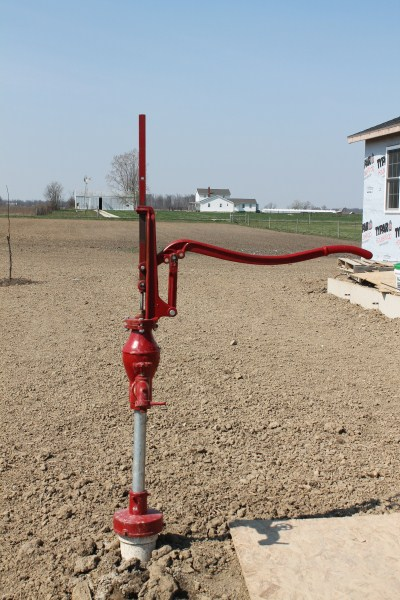New Heller Aller pump installed in an Amish home site.
