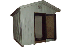 Ice houses use new insulating material in Amish communities to store ice over from the winter.