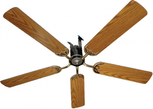 Amish made air powered ceiling fans.