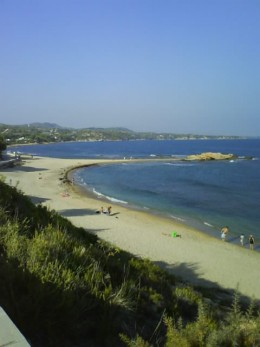 Platja Morro de Gos, Beach Cove in L'Ampolla, Spain