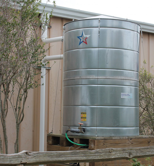 Rainwater collection tanks are being used in off-grid and on grid applications.