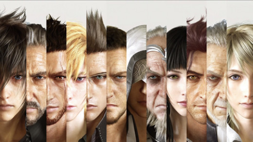 The main cast of Final Fantasy versus XIII/Final Fantasy XV