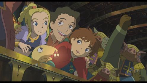 Traditionally animated (hand-drawn) cutscene