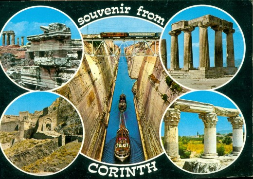 Postcard of Corinth
