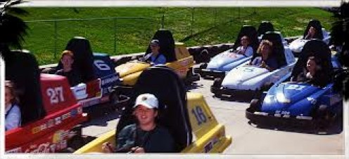 Their are plenty of activities for children in Panama City Beach, Florida such as Go-Kart racing.