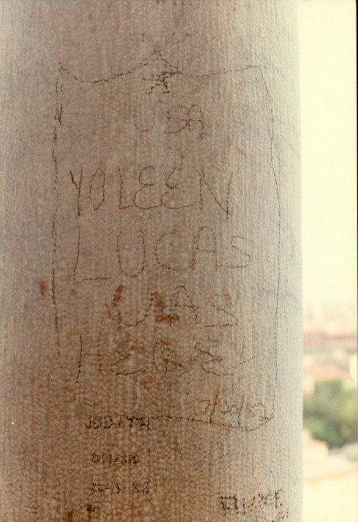 Leaving my mark on the Leaning Tower of Pisa