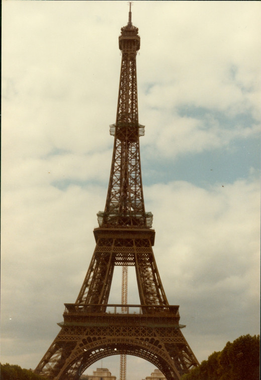Eiffel Tower, built for the 1888 World's Fair.  The French hated it, but came to love it eventually (unlike the Soviet's gift to Vienna).