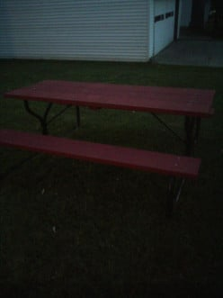 DIY Picnic Table cheap and easy in less than 24 hours!