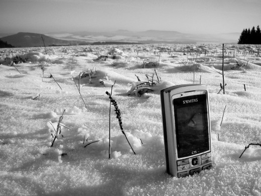 Generally, the snow is a bad place to store any electronic device.