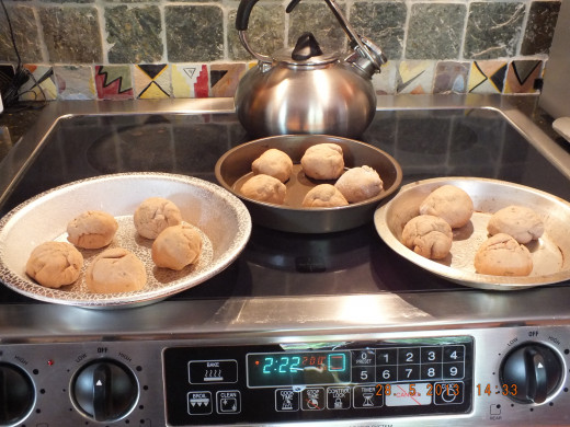 I start my oven about now to heat up the kitchen and to get the oven to a saturated heat. It also helps in the second rising of the dough.