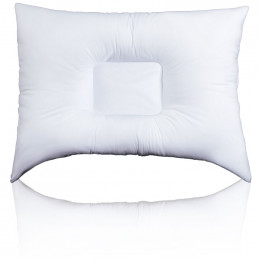 This fiber filled pillow features a SQUARE center and two softer neck rolls