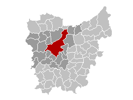 Map location of Ghent, East Flanders province, Belgium