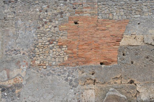 Wall at Pompei from Tony DeLorger.  Life resides on the other side of these walls we create.