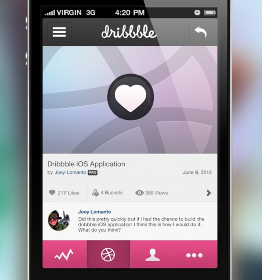 Dribbble Tap to Like by Joey Lomanto