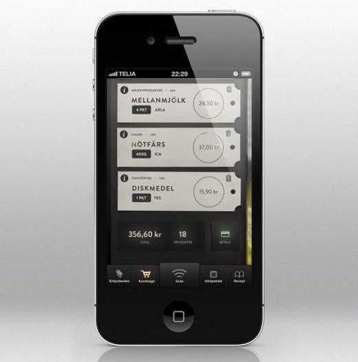 Self Checkout Concept App by Anton Reimertz