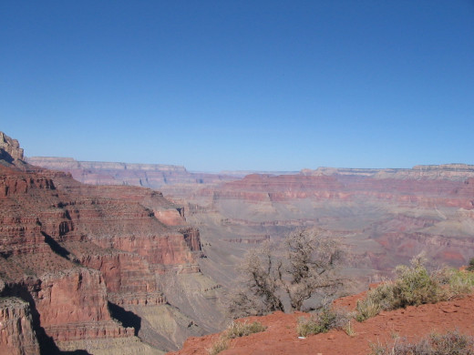 One of many gorgeous views of the Grand Canyon