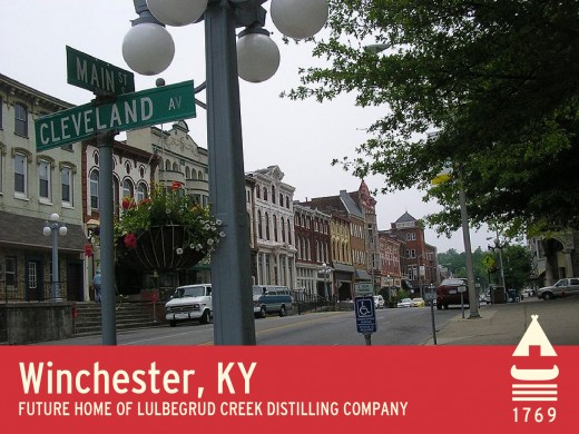 Downtown Winchester, KY; the proposed site of Lulbegrud Creek Distilling Company, LLC™
