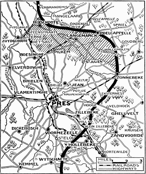 Map of 2nd Battle of Ypres